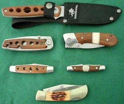 Lot Of 5 Winchester Pocket Knives And 1 Sheath Knife