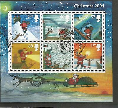 2004 Christmas  Cancelled Miniature Sheet Sg Ms2501  Ref 466