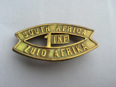 South African WW1 1st Infantry Shoulder Title