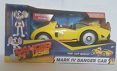 Danger Mouse - Mark IV Danger Car with Pop-Out Wings & Exclusive Figure - New