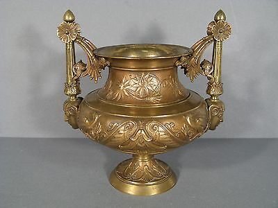 Vase En Bronze Style Empire Sphinge / Coupe Bronze Empire Style Barbedienne