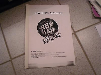 Operations Manual Anleitung für NBA Jam Extreme  Videoautomat