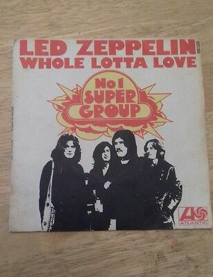 Led Zeppelin ~ Whole Lotta Love - 7 Inch Single - French / France  P/s - Rare