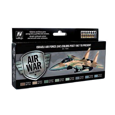 Vallejo MODEL AIR Color: set 8 colori acrilici da 17 ml - Israeli Air Force (IAF