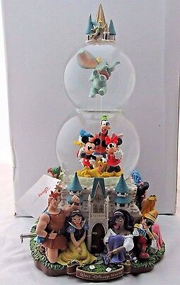 Disney Parade Musical Light Up Double Snowglobe in Box, Tested and Working