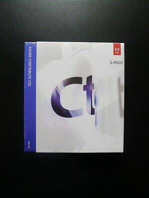 Adobe Contribute CS5 UPGRADE MAC 65073997 Genuine New/Sealed 5-Pack / 5 Users