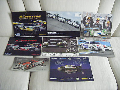 ALMS 2011 Dyson Racing Robertson Racing Large Postcard LOT OF 8 - Some Signed