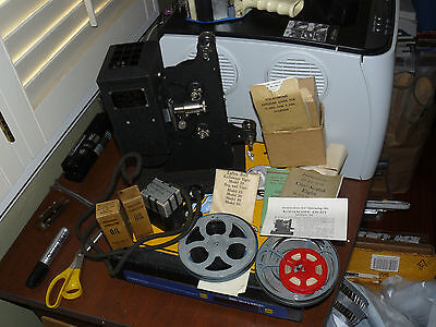 Kodascope Eight Model 50 8mm Movie Projector with extras free ship USA