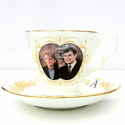 Vintage Colclough Bone China Tea Cup Saucer Duo Royal Marriage Prince Andrew