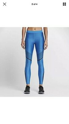 Women's NIKE Power Speed Running / Gym Tights - Size S 719784-435