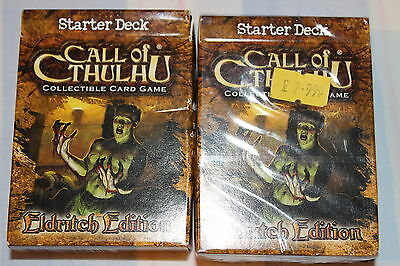 Call of Cthulhu Eldritch Edition Starter Deck New! X2 Decks