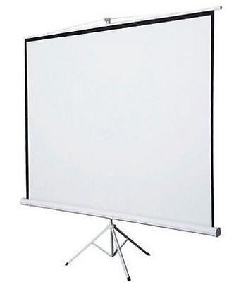 Projection Screen Portable Tripod Stand Adjustable Matte White Viewing Surface