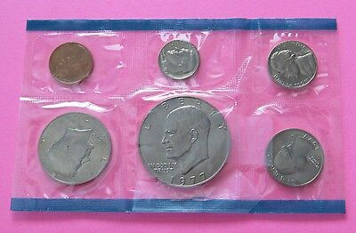 1977-P Coin Set - $1, 50C, 25C, 10C, 5C, & 1C - Uncirculated - Mint Condition
