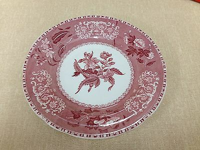 """Spode's Camilla Pattern Copeland England Salad 7.5"""" Red/Pink, Plate"""