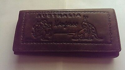 Genuine leather australian clutch purse