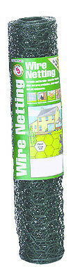 Gardman PVC Coated Wire Netting 25mm, Fencing Plant Crop Protection, 6m x 0.5m