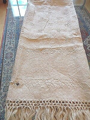 Antique Made in Napoli Italy S.G.M.I.  100% linen Bath / Show Towel