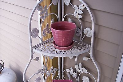 Vintage USA  308  Mauve Planter with Attached Saucer