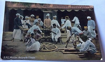 Early Real Photo Post and S.P.G Mission Nazareth S.India 1909