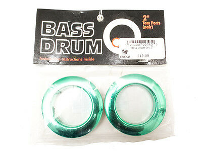 """Bass Drum O's 2"""" Green Tom Ports (Pair)"""