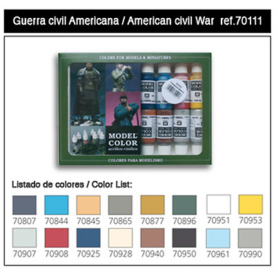 Vallejo MODEL Color: American Civil War - SET 16 colori acrilici 17 ml