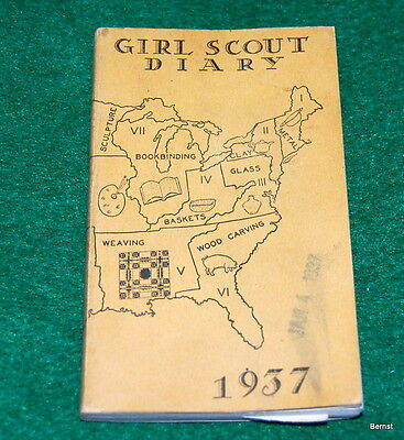 Vintage  Girl Scout - 1937 Girl Scout Diary - Free Shipping