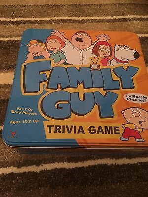 Family Guy Trivia Game Tin Great Family Board Game