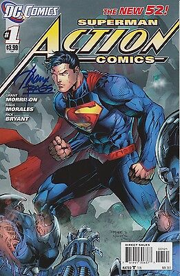Action Comics #1 Jim Lee variant, signed by Rags Morales (1st print, New52)