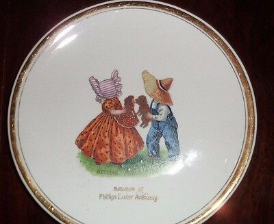 Vintage Phillips Exeter Academy NH Getting Acquainted Souvenir Plate