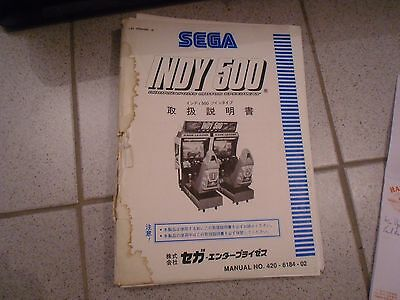 Operations Manual Anleitung für Indy 500 Videoautomat
