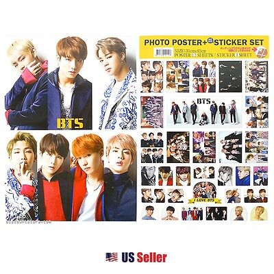 KPOP BTS A3 Official Photo Poster Sticker Set Various 12 Sheets Bromide (ver.11)