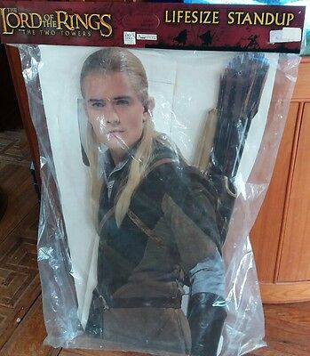 LEGOLAS Lord of the Rings Two Towers Orlando Bloom Lifesize CARDBOARD CUTOUT '03