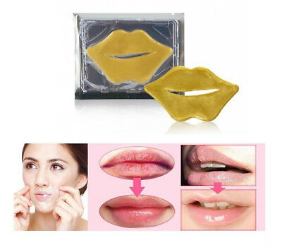 Lip Mask Gold Collagen Bio Pad Patch Moisturizing Anti-Aging UK Seller