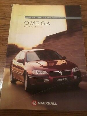 Vauxhall Omega Saloon And Estate Models Sales Brochure 1996 Edition Number 1