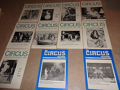 1975 HISTORY kompletter Jahrgang DIE CIRCUS ZEITUNG cirque circo n programme