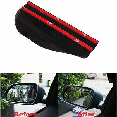 2x Car Truck Universal Rear View Side Mirror Water Rain/Snow Shield Shade Cover