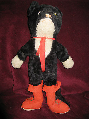 Rare 1930s Vintage collectable Farnell Alphatoy Puss in Boots, plush, vgc