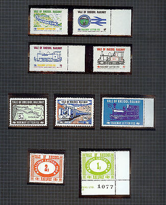 Railway Letter Fee Stamps Vale of Rheidol Railway Small Selection MNH