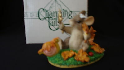 """Fitz Floyd Charming Tails """"Maxine's Leaf Collection"""" with box"""