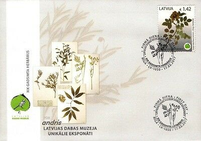 Latvia 2017 (02) Museum of Natural History - Herbarium - Dogs Rose (fdc)
