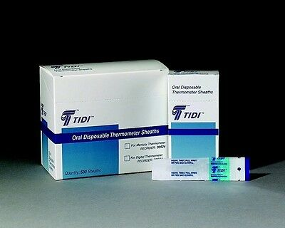 Thermometer Sheaths Oral Disposable By Tidi 500/box, New!