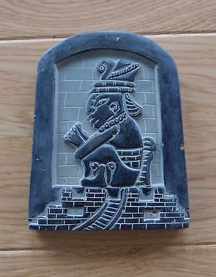 Small stone Mayan god relief/carving bought in Central America approx 9cm x 11cm