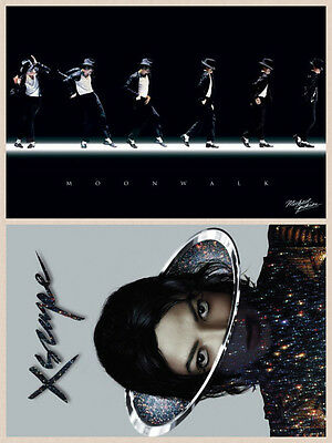 TWO BRAND NEW POSTERS  Michael Jackson King of Pop Dance Bad Thriller XSCAPE NEW