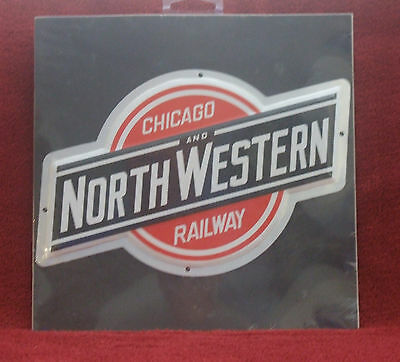 American Railway herald/sign 8x6 inches Chicago & North Western