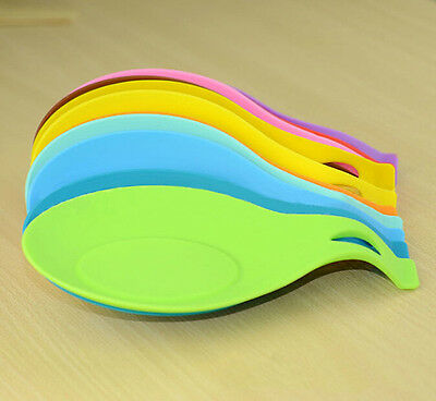 Silicone Spoon Rest Heat Resistant Spatula Holder Kitchen Utensil Cooking Tool