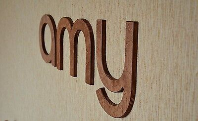 8'' Wall Wood Letters, Brown Baby Nursery Letters, Custom Wood Home Decor