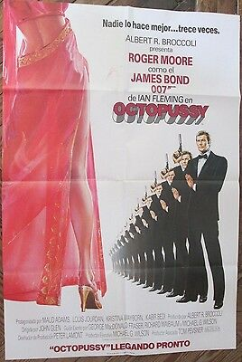007 James Bond Octopussy Original Poster Of The Movie In Spanish 1983