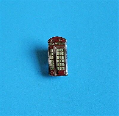 red telephone box stud pin badge charity #