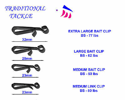 Medium, Large, Extra Large Bait Clips And Medium Link Clips-Rig And Lead Weights