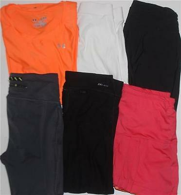Under Armour Nike Women's Shirts Leggings Athletic Lot of 6 Sz XS FREE SHIPPING!
